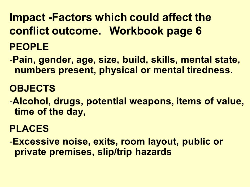 10 Workbook p.7 Patterns of behaviour Spotting the Signs  Can you identify any Warning and Danger signs in the Case study film clip?