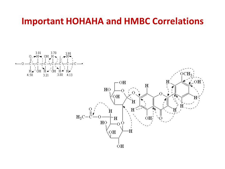 Important HOHAHA and HMBC Correlations