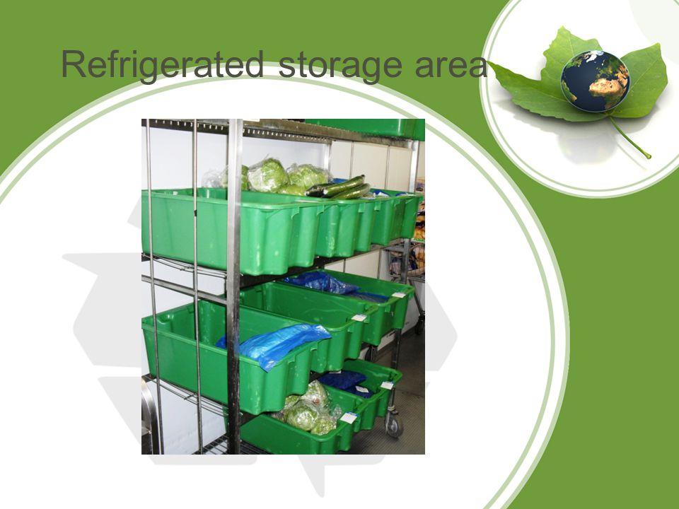 Refrigerated storage area