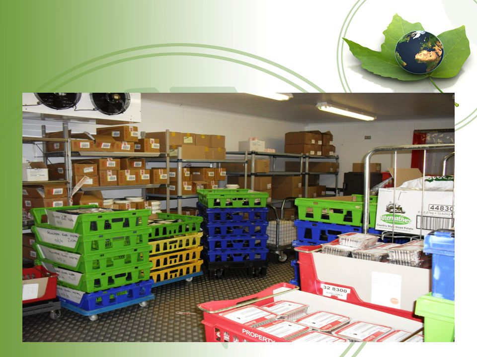 Reducing our Carbon Footprint We have encouraged suppliers to use reusable plastic delivery crates.