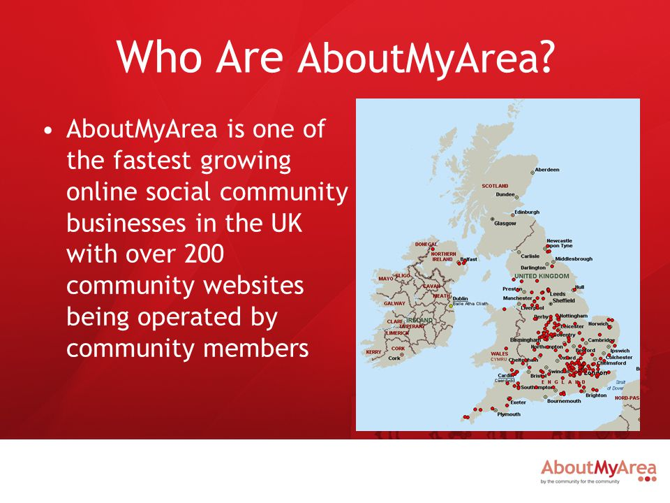 What Do AboutMyArea Do.