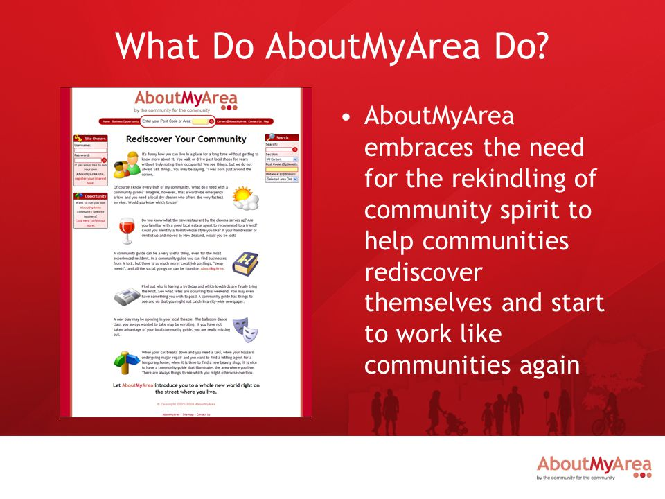 What Does AboutMyArea Offer.