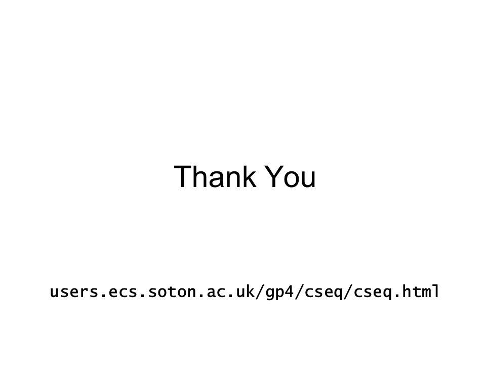 Thank You users.ecs.soton.ac.uk/gp4/cseq/cseq.html