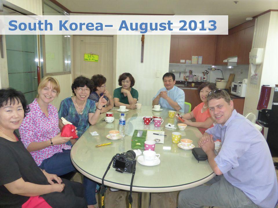 South Korea– August 2013