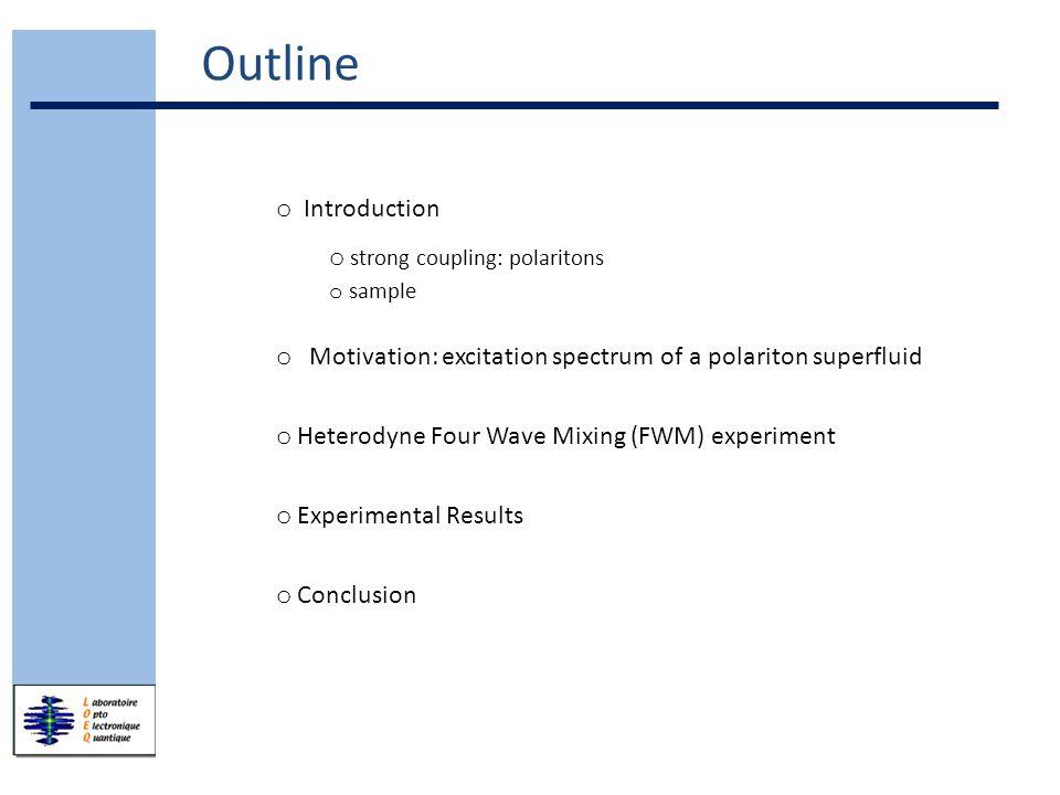 Introduction Motivation FWM experiment Experimental results Conclusion/ Outlook k = 1 µm -1 Arb.