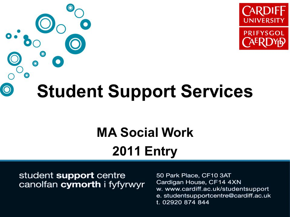 Student Support Services MA Social Work 2011 Entry