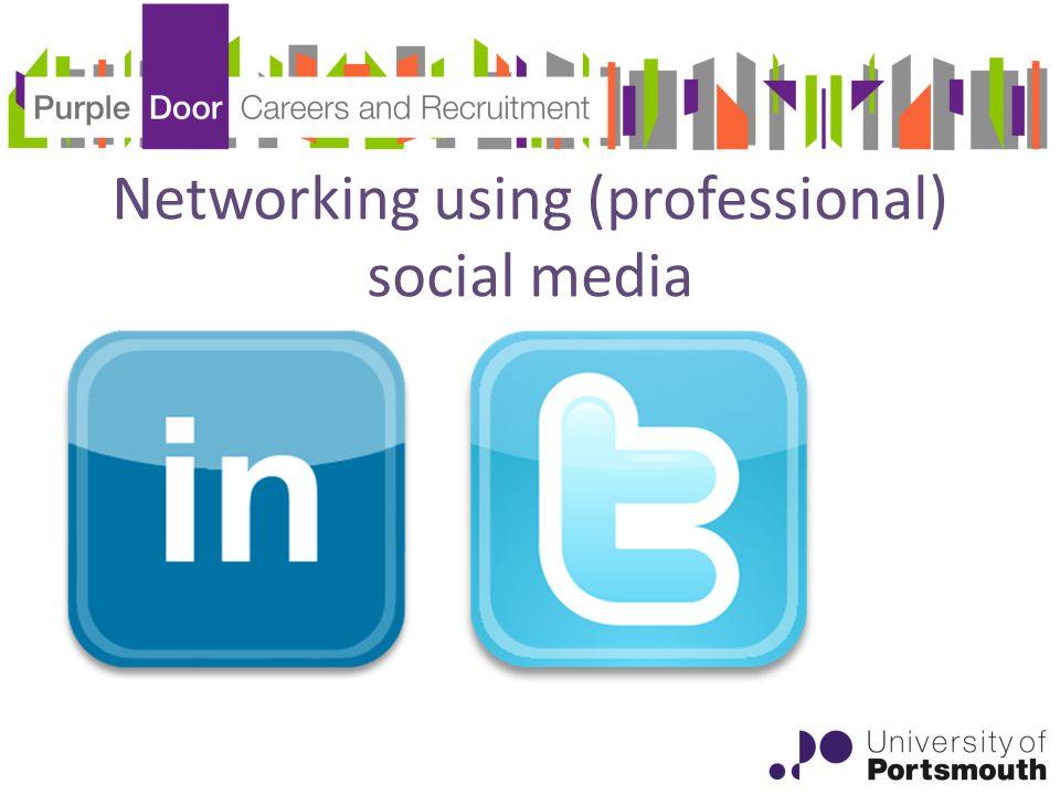 Networking using (professional) social media