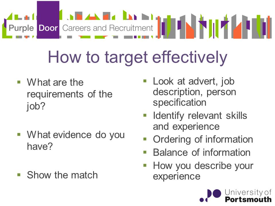 Other areas to include  Other education  Other work experience  Interests and activities  References /testimonials For these sections think how you can show evidence of relevant skills or specialist knowledge