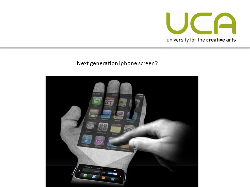 Next generation iphone screen