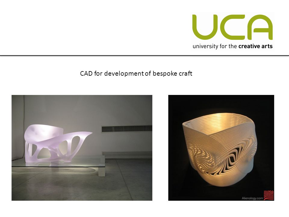 CAD for development of bespoke craft