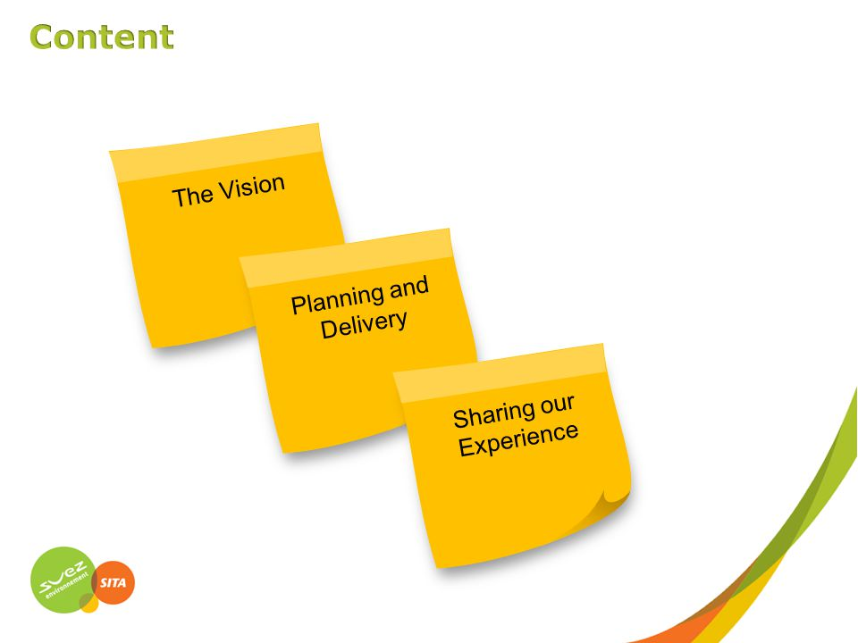 The VisionPlanning and Delivery Sharing our Experience