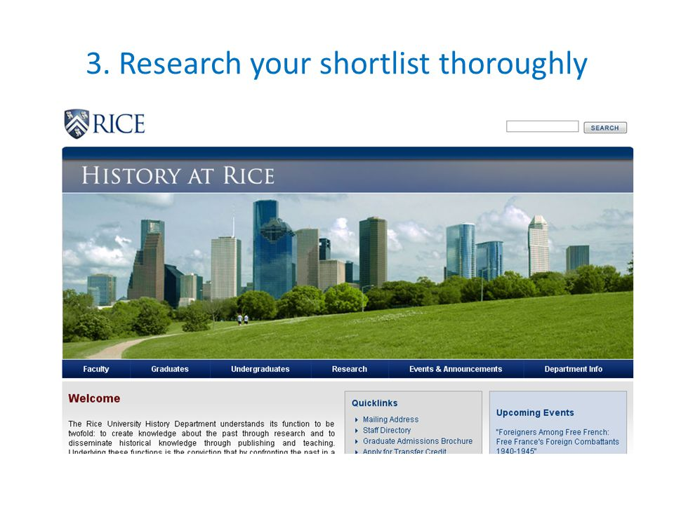 3. Research your shortlist thoroughly