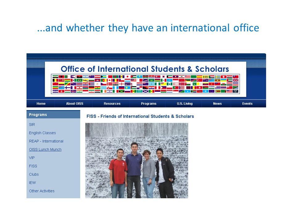 ...and whether they have an international office