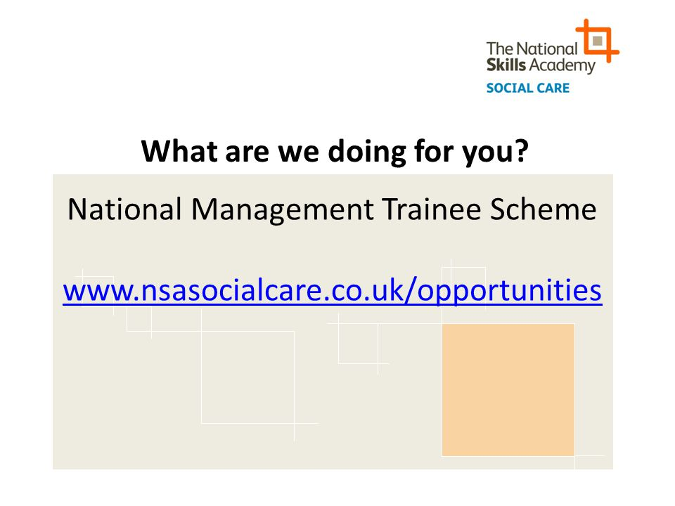 National Management Trainee Scheme