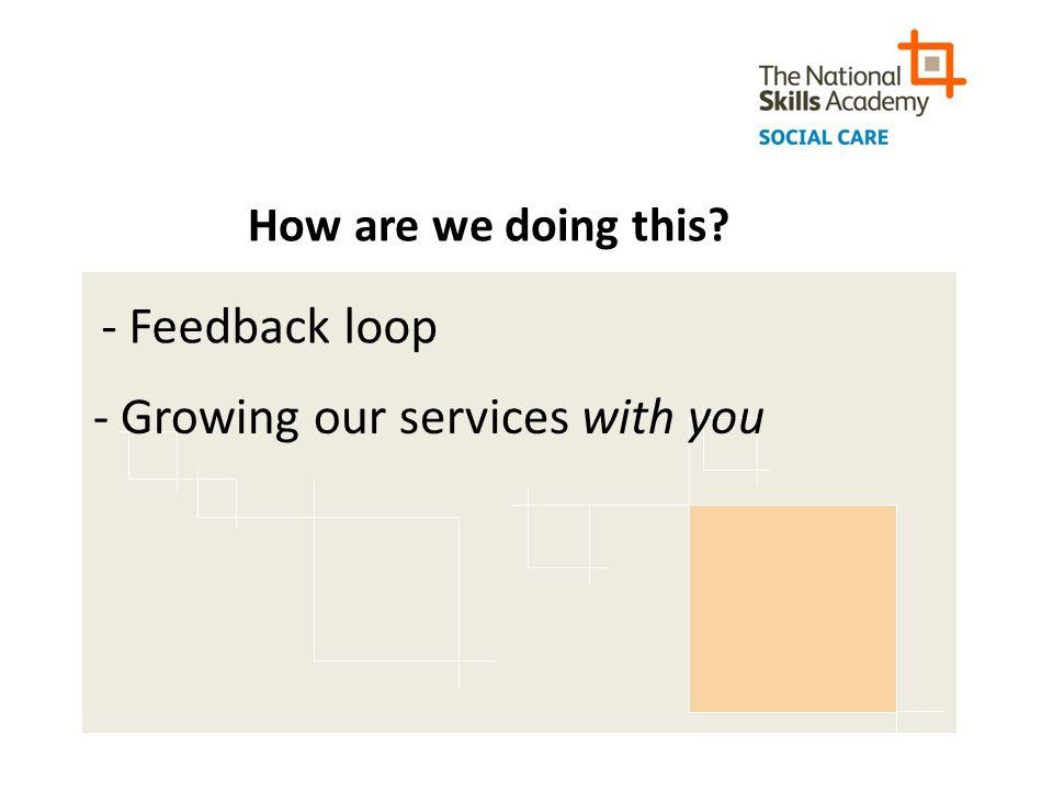 Contact Us www.nsasocialcare.co.uk contactus@nsasocialcare.co.uk Tel: 0207 397 5629