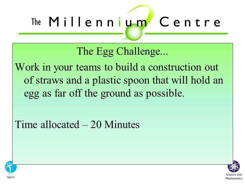The Egg Challenge...