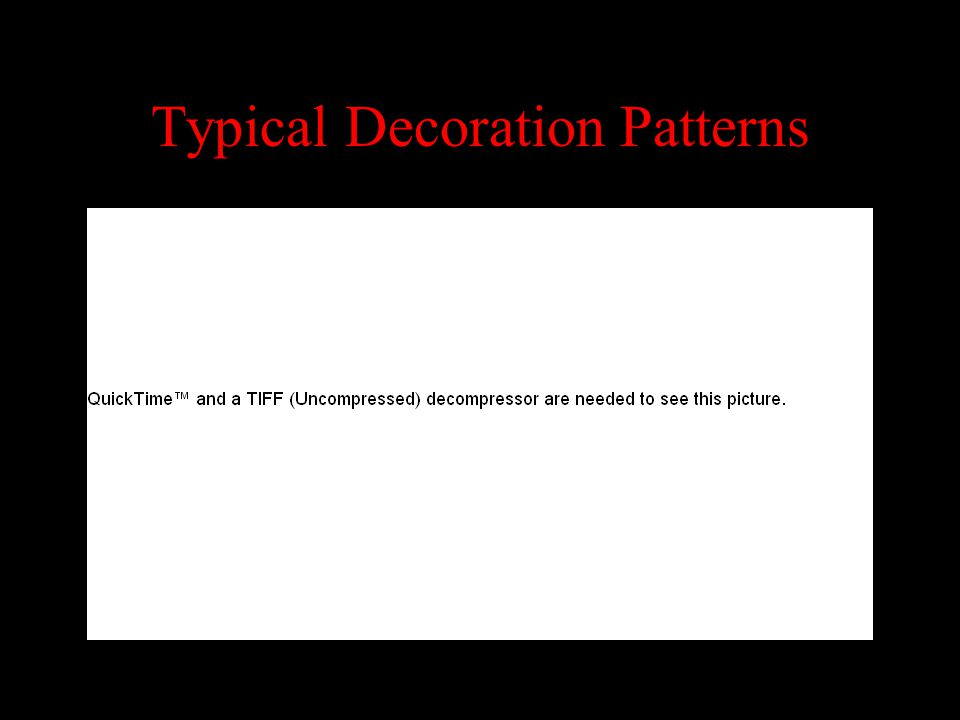 Typical Decoration Patterns