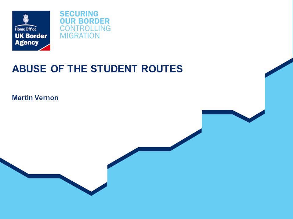 ABUSE OF THE STUDENT ROUTES Martin Vernon
