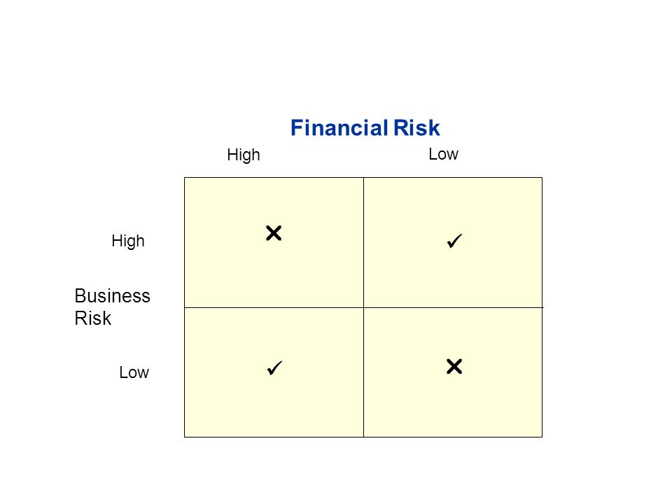  Low High Financial Risk  Low High Business Risk