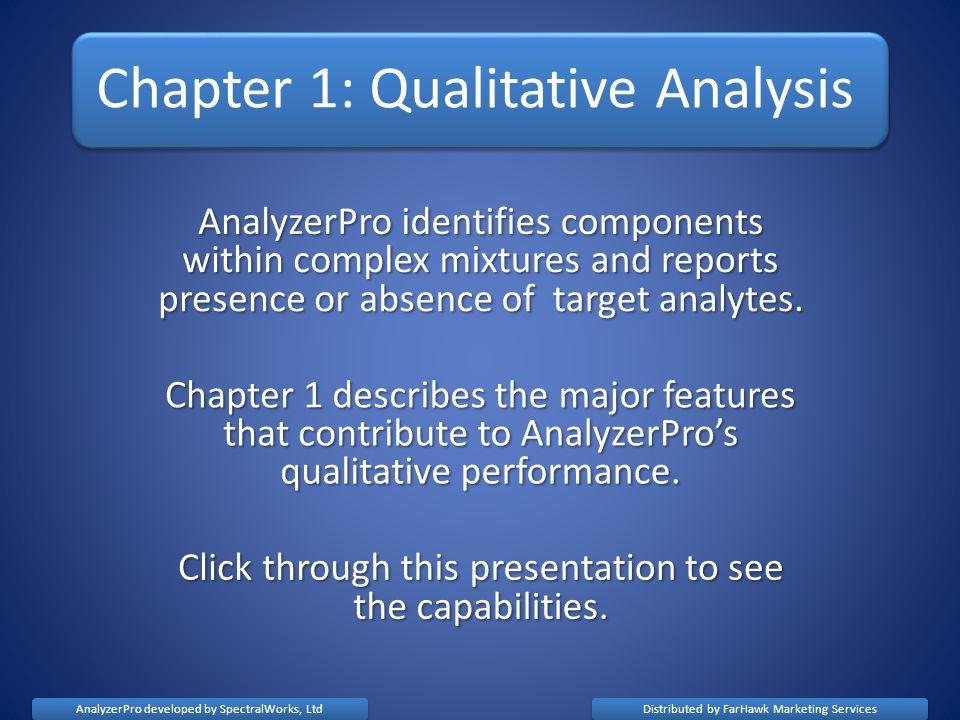Chapter 1: Qualitative Analysis