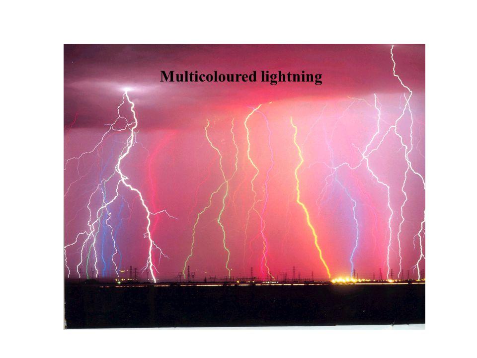 Multicoloured lightning