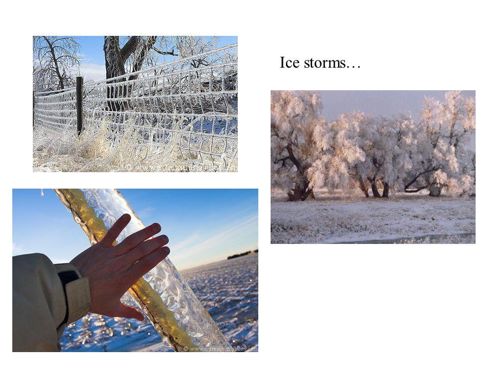 Ice storms…