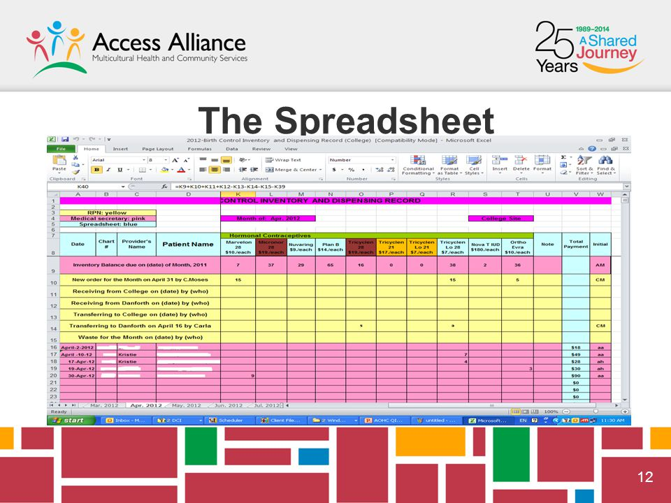  12 The Spreadsheet