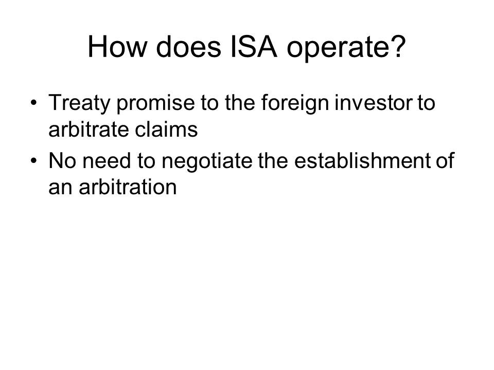 ISA Arbitrators Who is chosen? How are they chosen? To whom are they responsible?