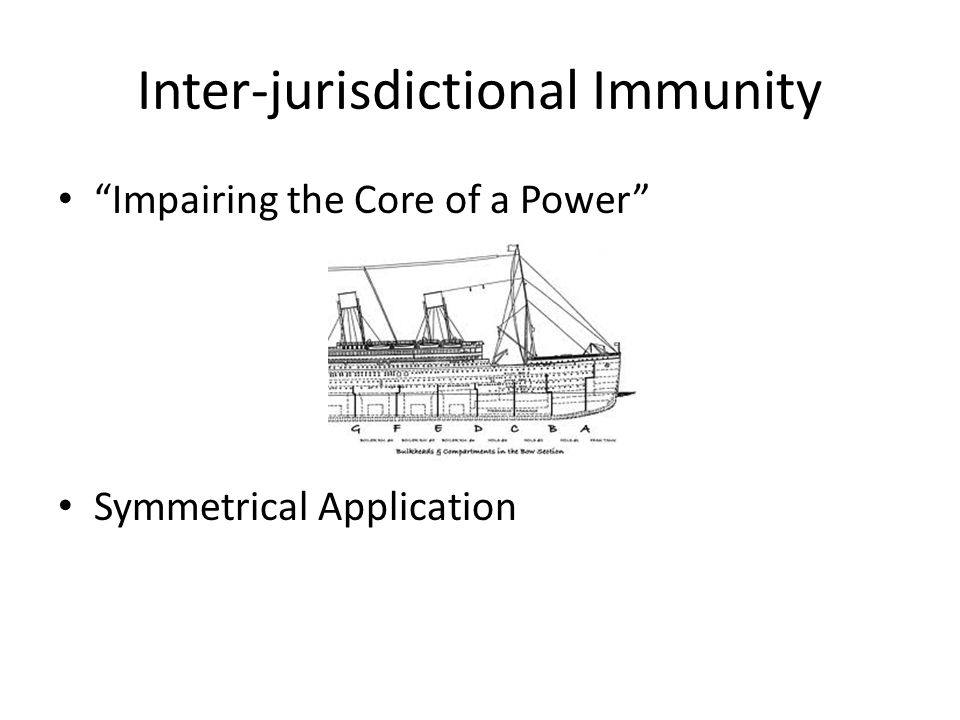 Inter-jurisdictional Immunity Impairing the Core of a Power Symmetrical Application