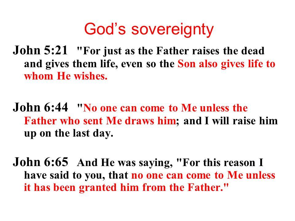 God's sovereignty John 5:21