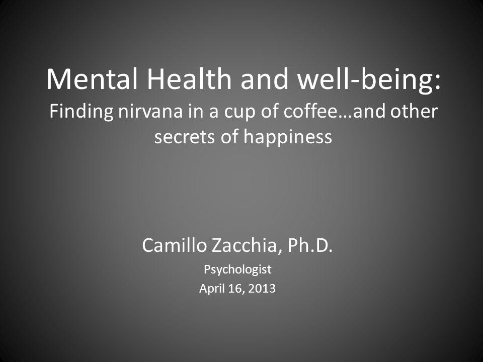 Mental illness / Mental health  Why the distinction.