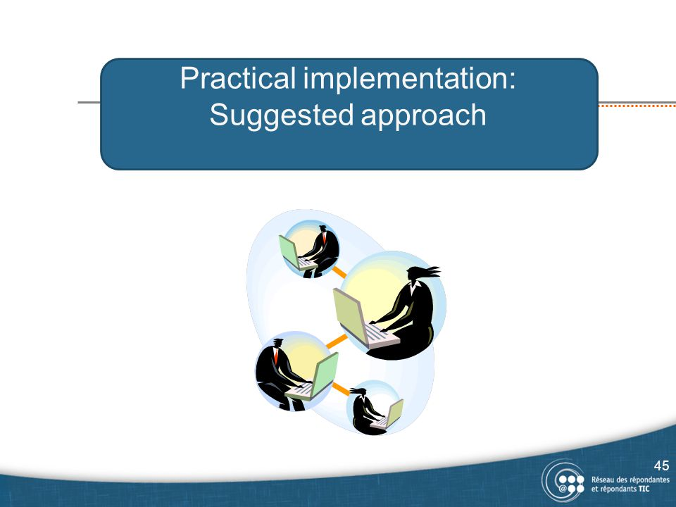 Practical implementation: Suggested approach 45
