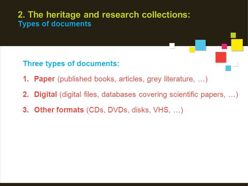 2. Research collection: E-books Purchased or licenced