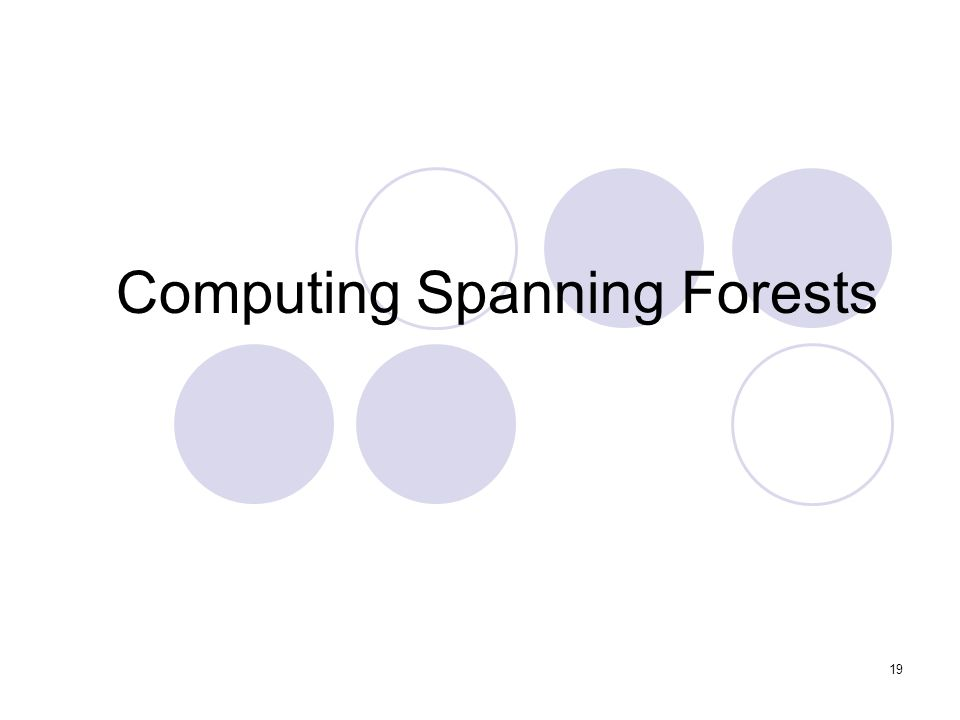 19 Computing Spanning Forests