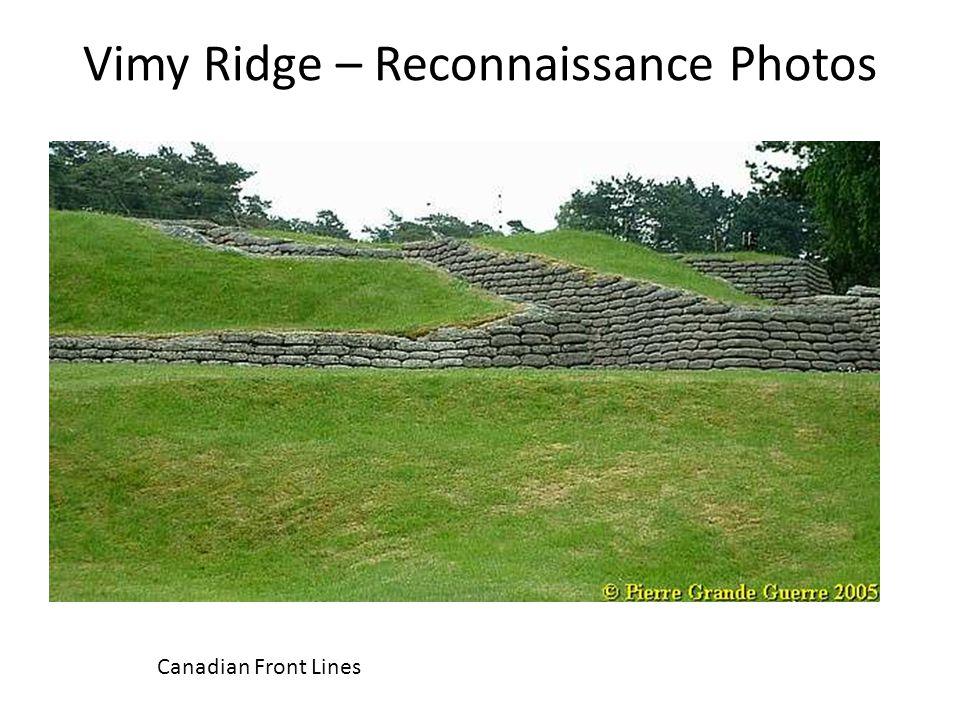 Vimy Ridge – Reconnaissance Photos Canadian Front Lines
