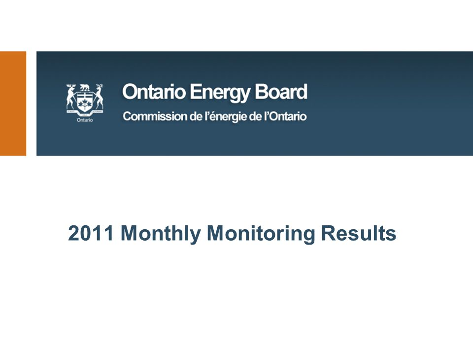 2011 Monthly Monitoring Results