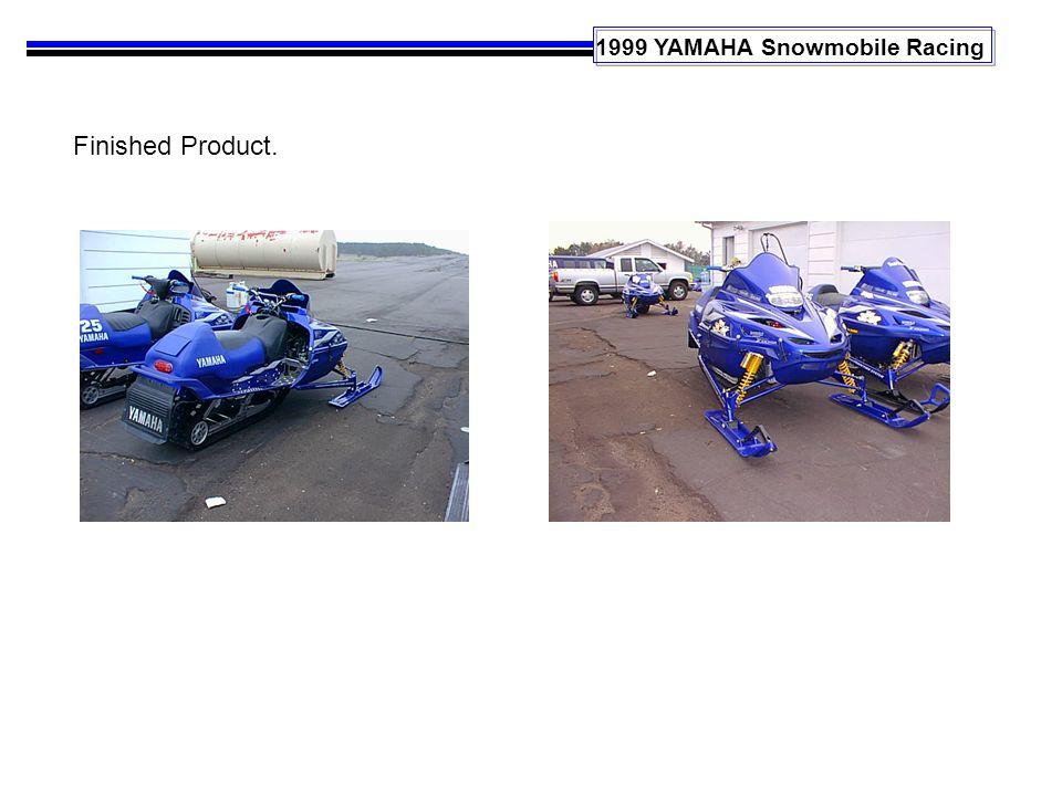 1999 YAMAHA Snowmobile Racing Finished Product.