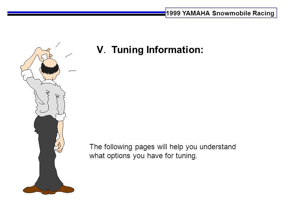 1999 YAMAHA Snowmobile Racing V.
