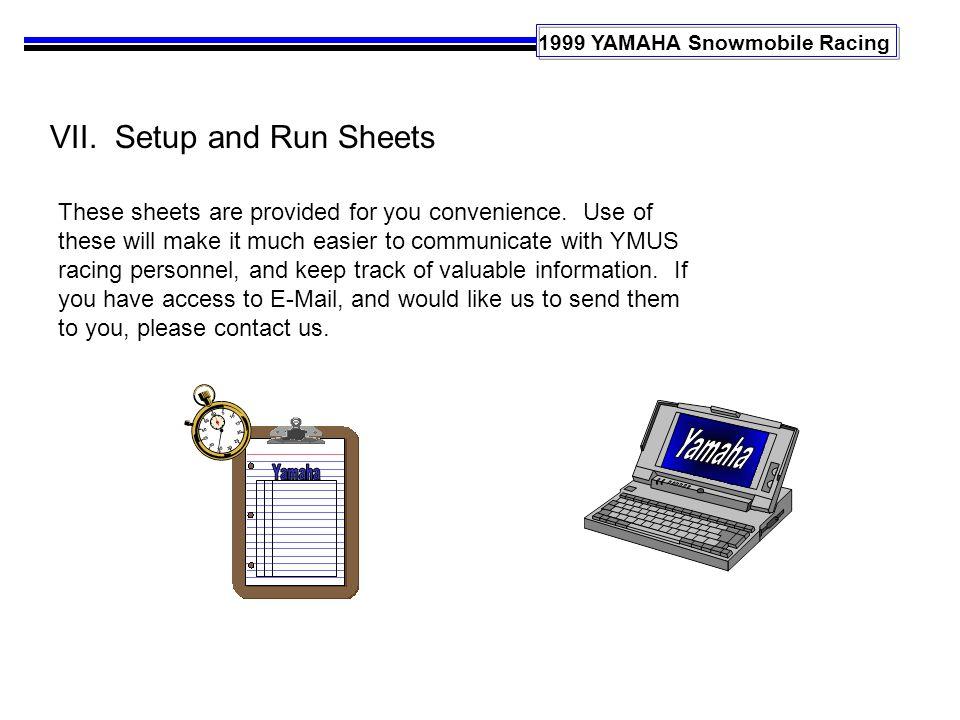 1999 YAMAHA Snowmobile Racing VII.
