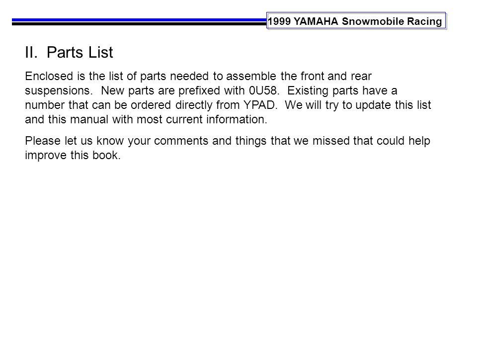 1999 YAMAHA Snowmobile Racing II.