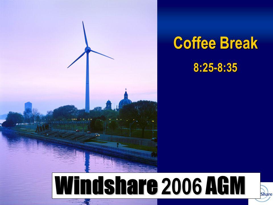 Windshare 2006 AGM Coffee Break 8:25-8:35