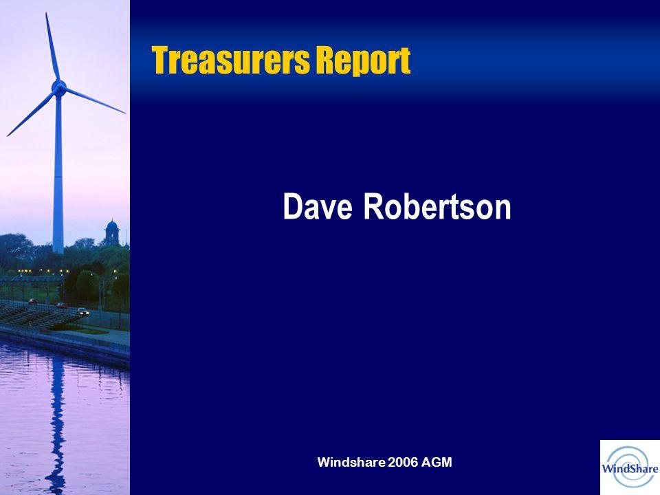 Windshare 2006 AGM Treasurers Report Dave Robertson