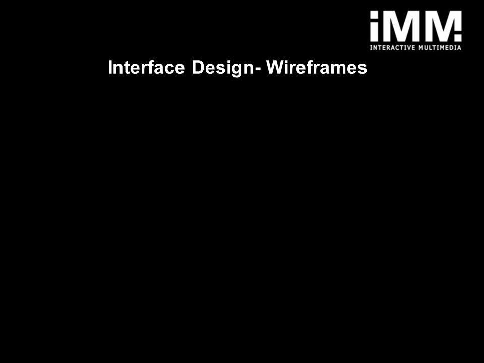 1 Interface Design- Wireframes