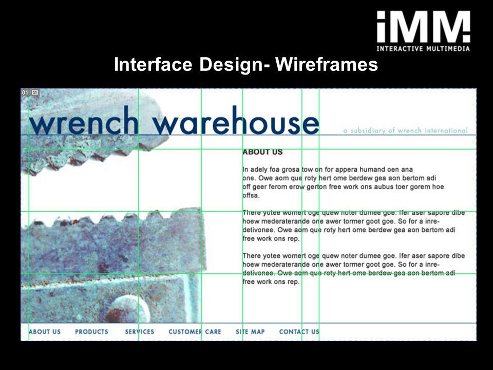 10 Interface Design- Wireframes