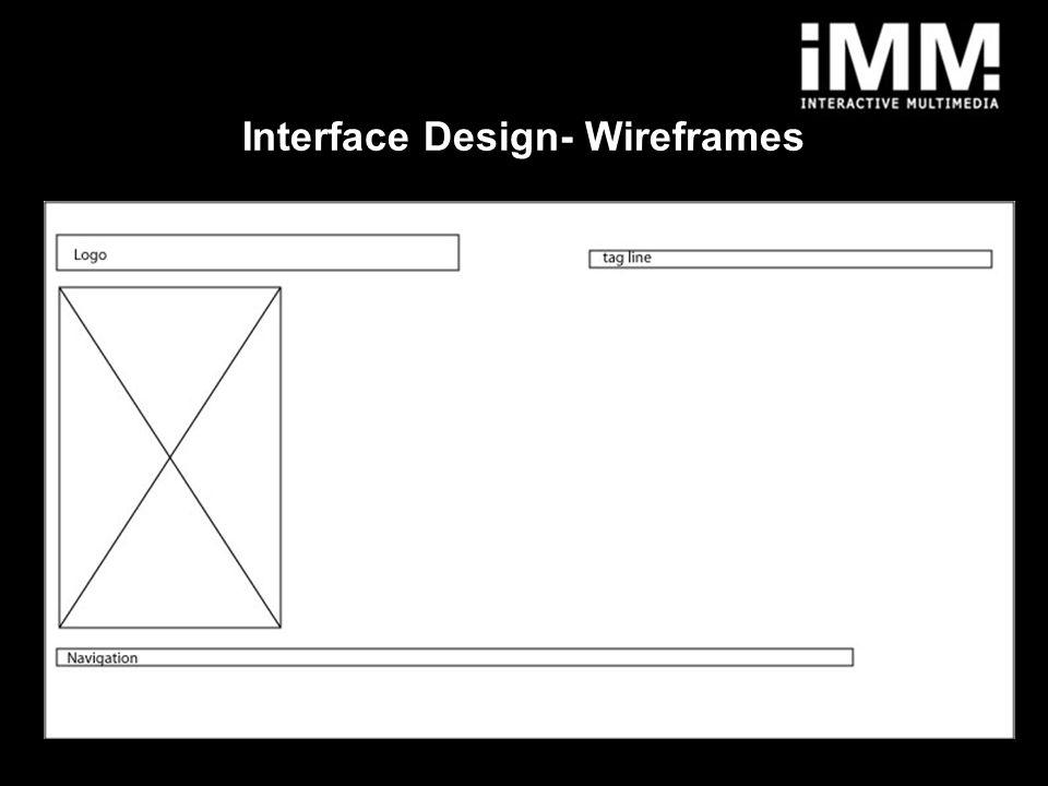 5 Interface Design- Wireframes