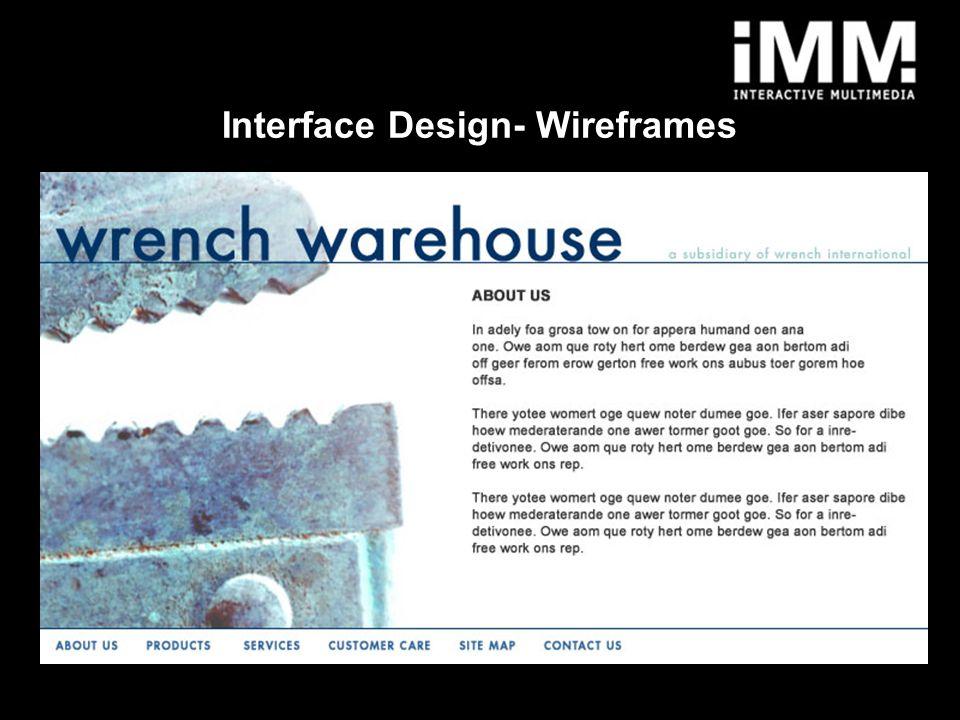9 Interface Design- Wireframes