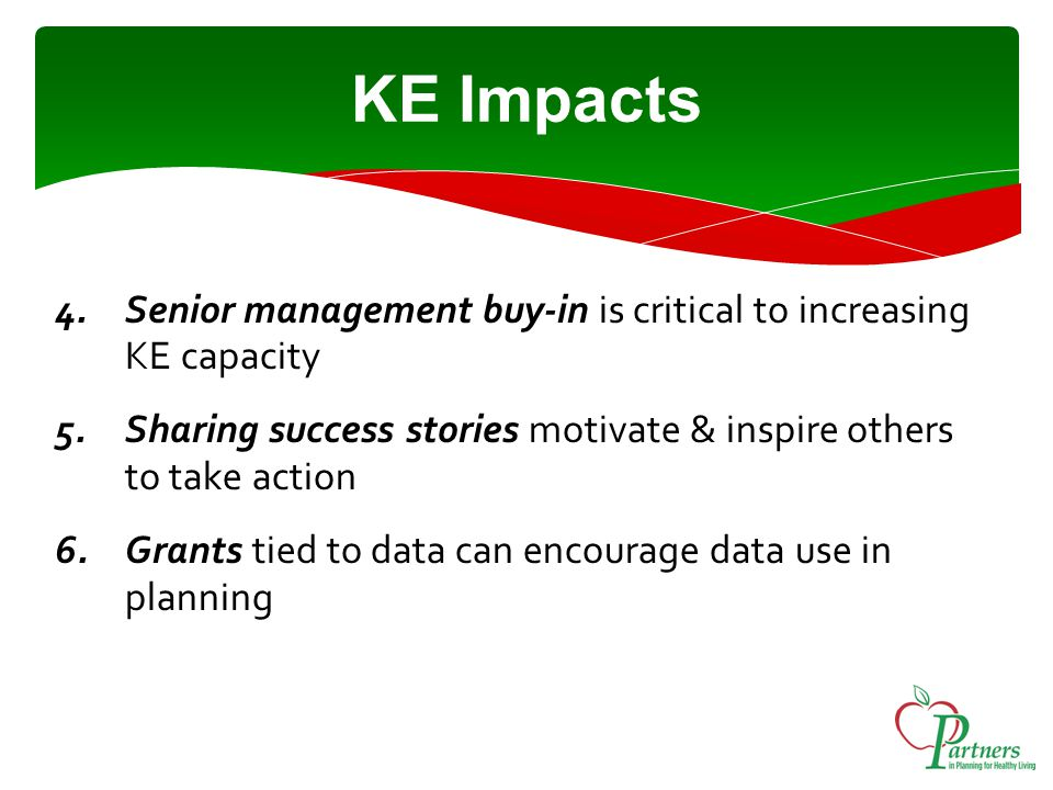 Next Steps Developing YHS 2012 KE strategy & workplan Objective: to support partners in building KE capacity Need your help and input!