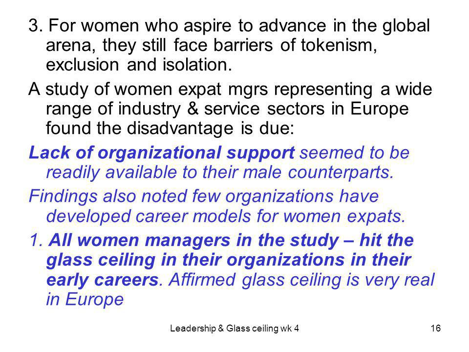 Leadership & Glass ceiling wk 416 3.