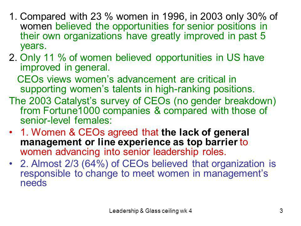 Leadership & Glass ceiling wk 43 1.