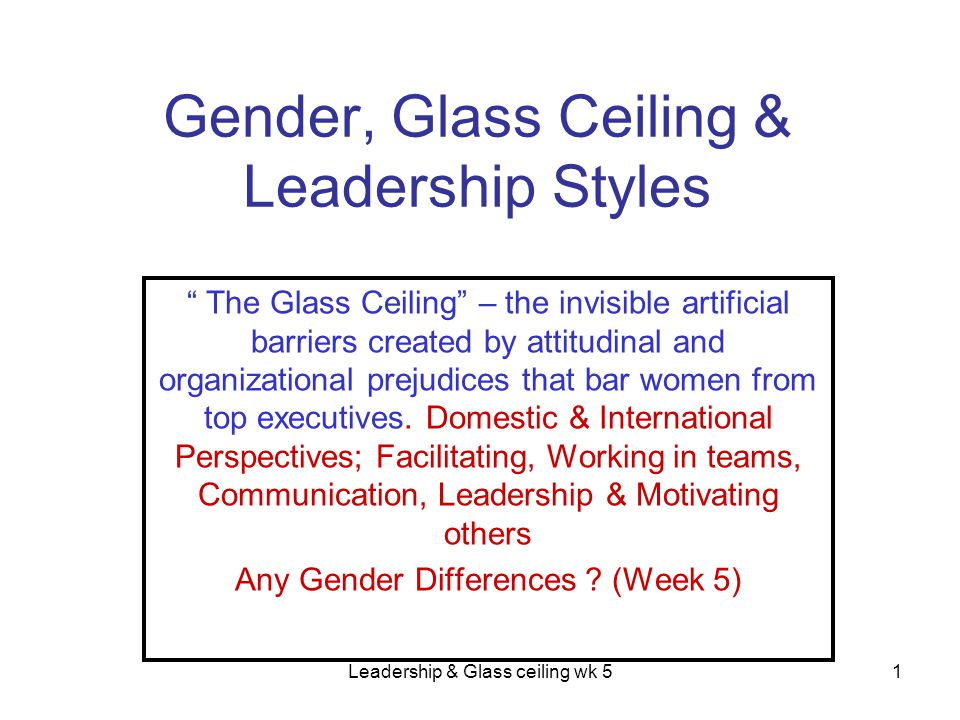 What is a real & practical constraint for women to achieve high level positions.